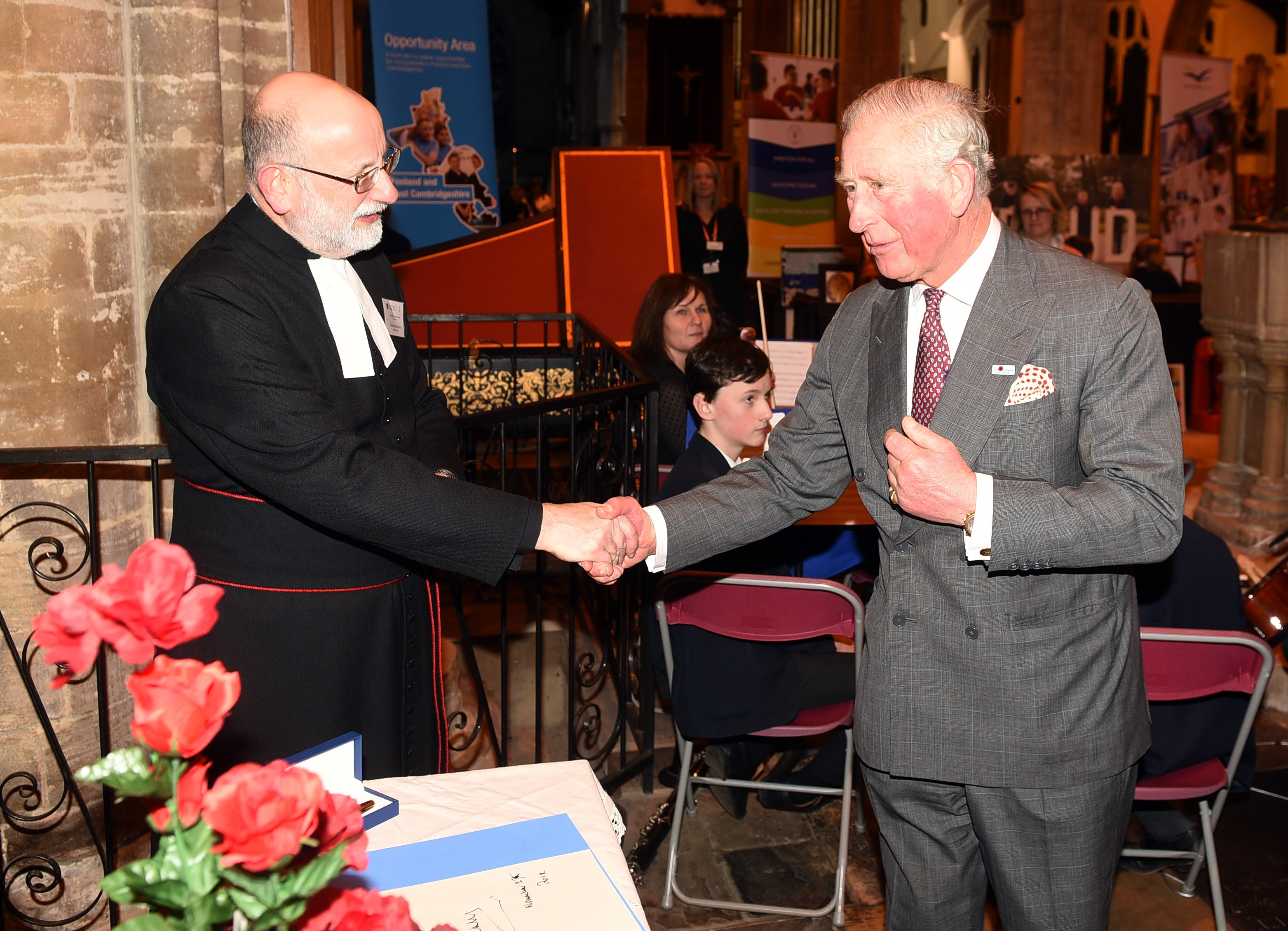 HRH Prince Charles with Rev Canon Matthew Bradbury (Click to enlarge)