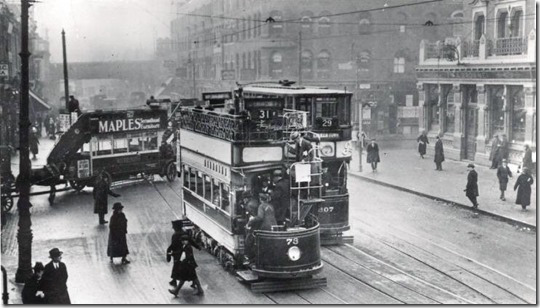 Seven Sisters Road in 1922 when my family were there (Click to enlarge)