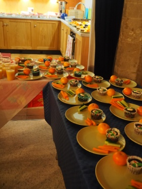 Christingle Messy Church Tea prepared at St Mary�s Great Abington