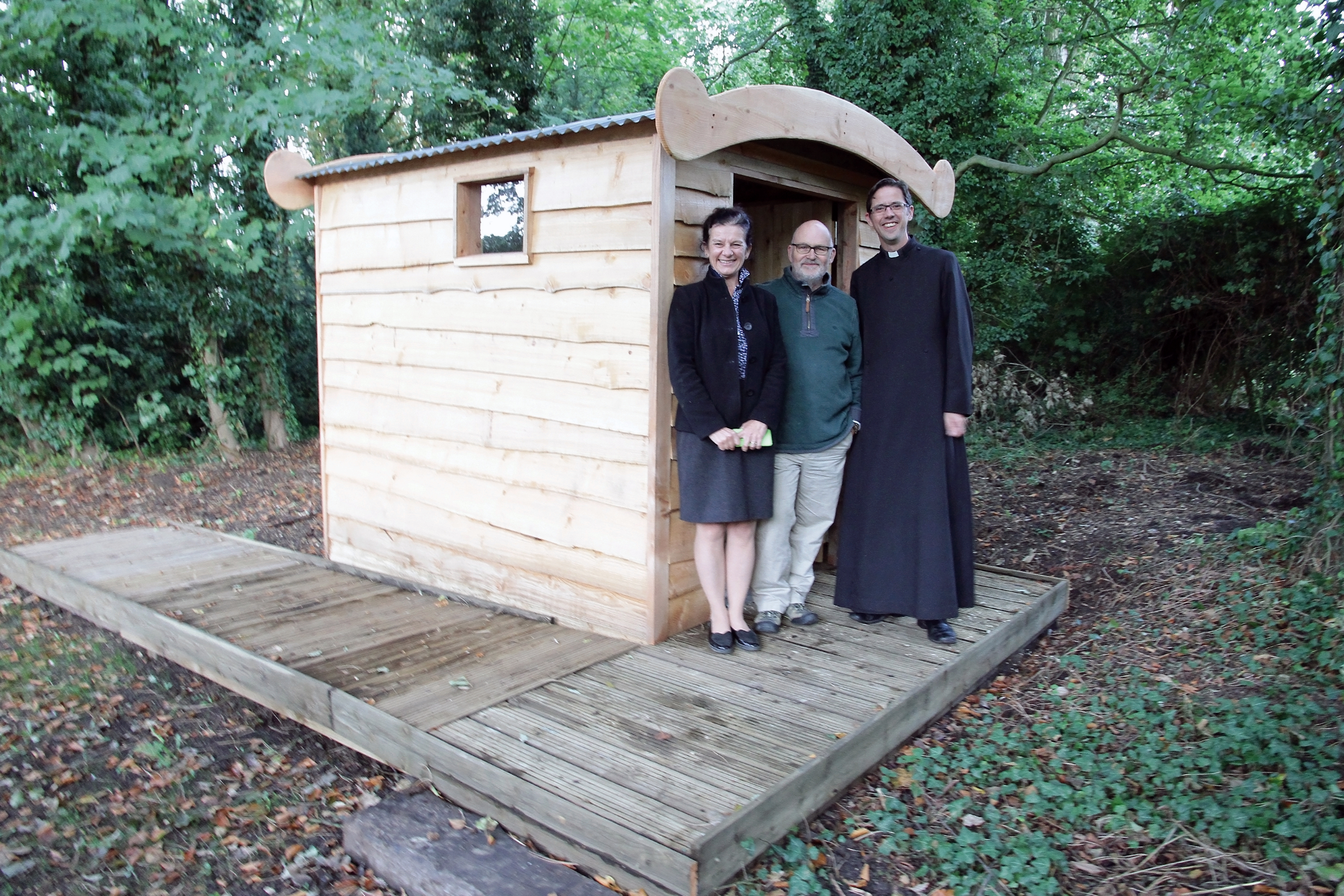 New disabled access composting toilet at Hatley St George Church