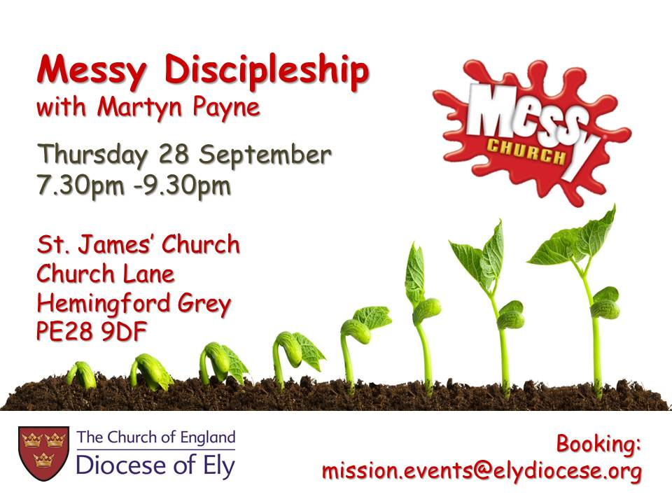 Messy Discipleship-our next event with Martyn Payne - booking now