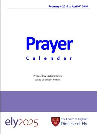 New Prayer Calendar