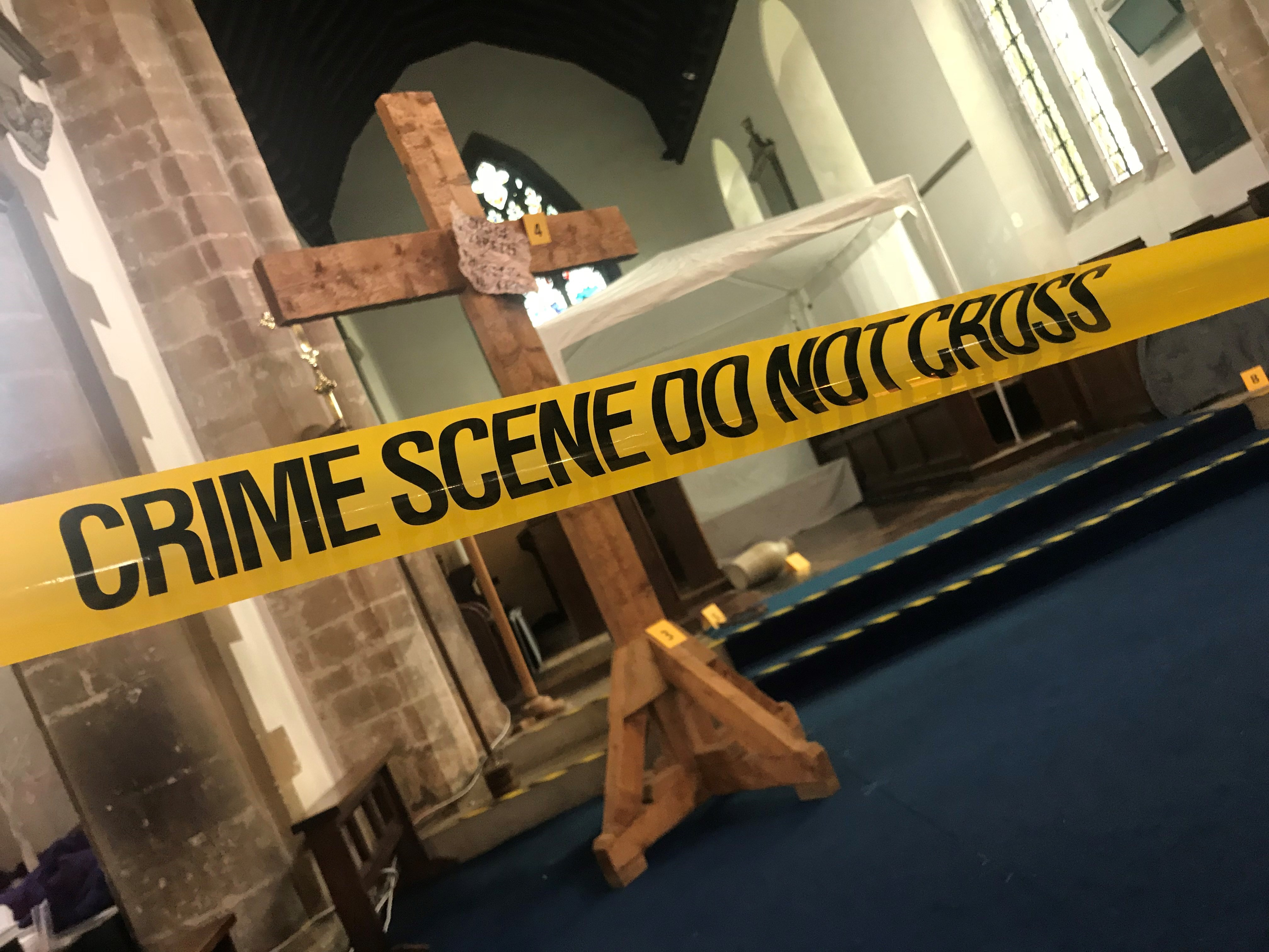 Crime scene…what do the clues suggest might have happened? (Click to enlarge)