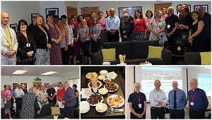 William Nye meeting members of the Diocese of Ely team and a farewell to friend and colleague Gina on her last day with the Diocese. (Click to enlarge)